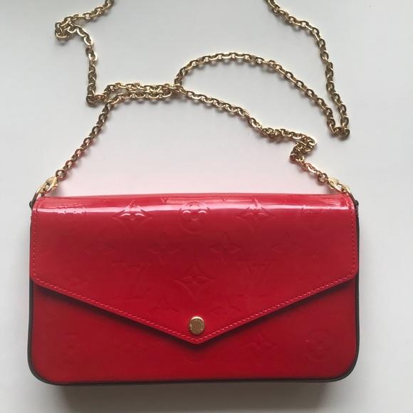 888d7ae5e1fe Louis Vuitton Handbags - Louis Vuitton Pochette Felicie in Cherry